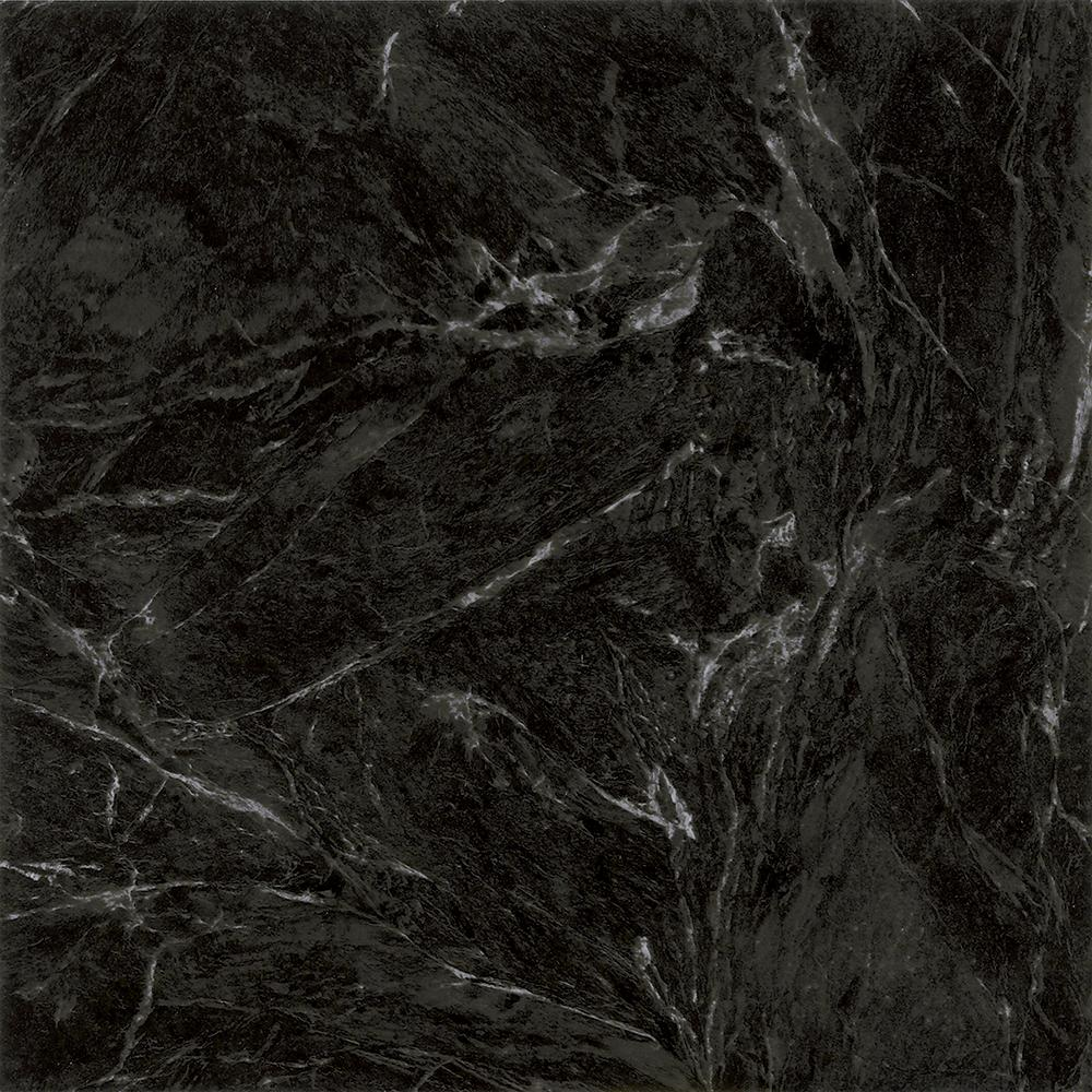 Trafficmaster Take Home Sample Black Marble Peel And Stick Vinyl Tile Flooring 5 In X 7 In Ar 494885 The Home Depot