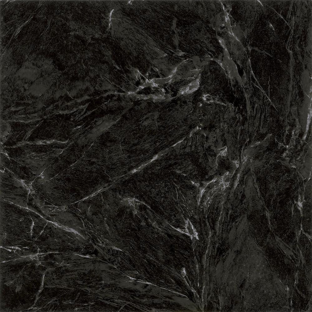 TrafficMASTER Take Home Sample - Black Marble Peel and Stick Vinyl Tile Flooring - 5 in. x 7 in.