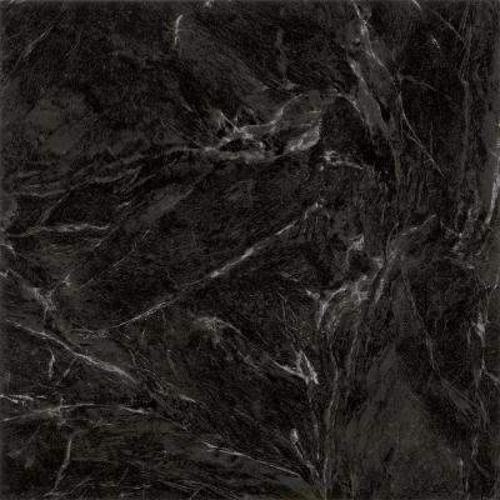 Take Home Sample - Black Marble Peel and Stick Vinyl Tile Flooring - 5 in. x 7 in.