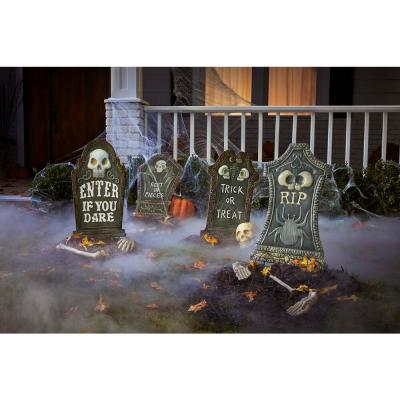 24.5 in Metal RIP Halloween Tombstone
