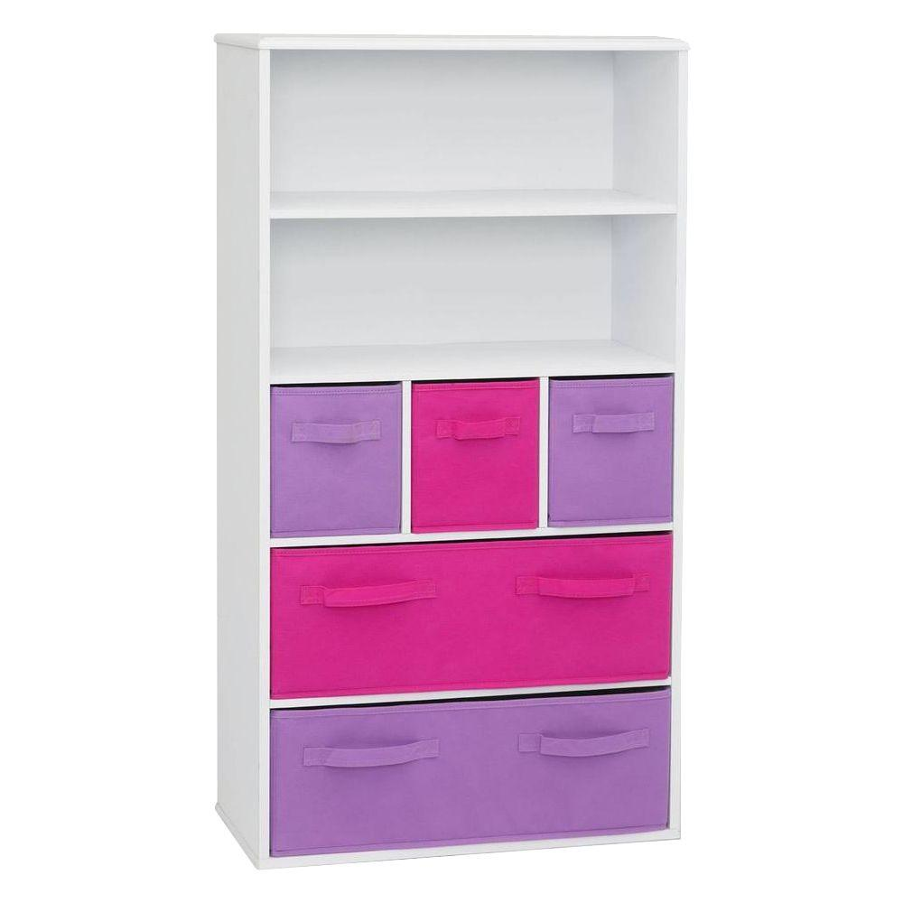 4D Concepts White Storage Kids Bookcase  sc 1 st  Home Depot & 4D Concepts White Storage Kids Bookcase-12455 - The Home Depot