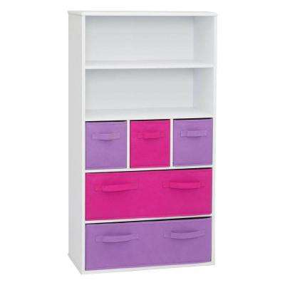 white storage kids bookcase - Bookshelves Home Depot