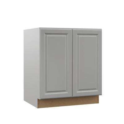 Elgin Assembled 30x34.5x21 in. Full Door Height Bathroom Vanity Base Cabinet in Heron Gray