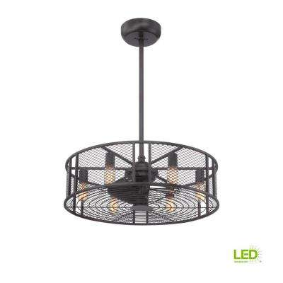 Boyd Collection 26 in. LED Indoor Oil-Rubbed Bronze Ceiling Fan with Remote Control