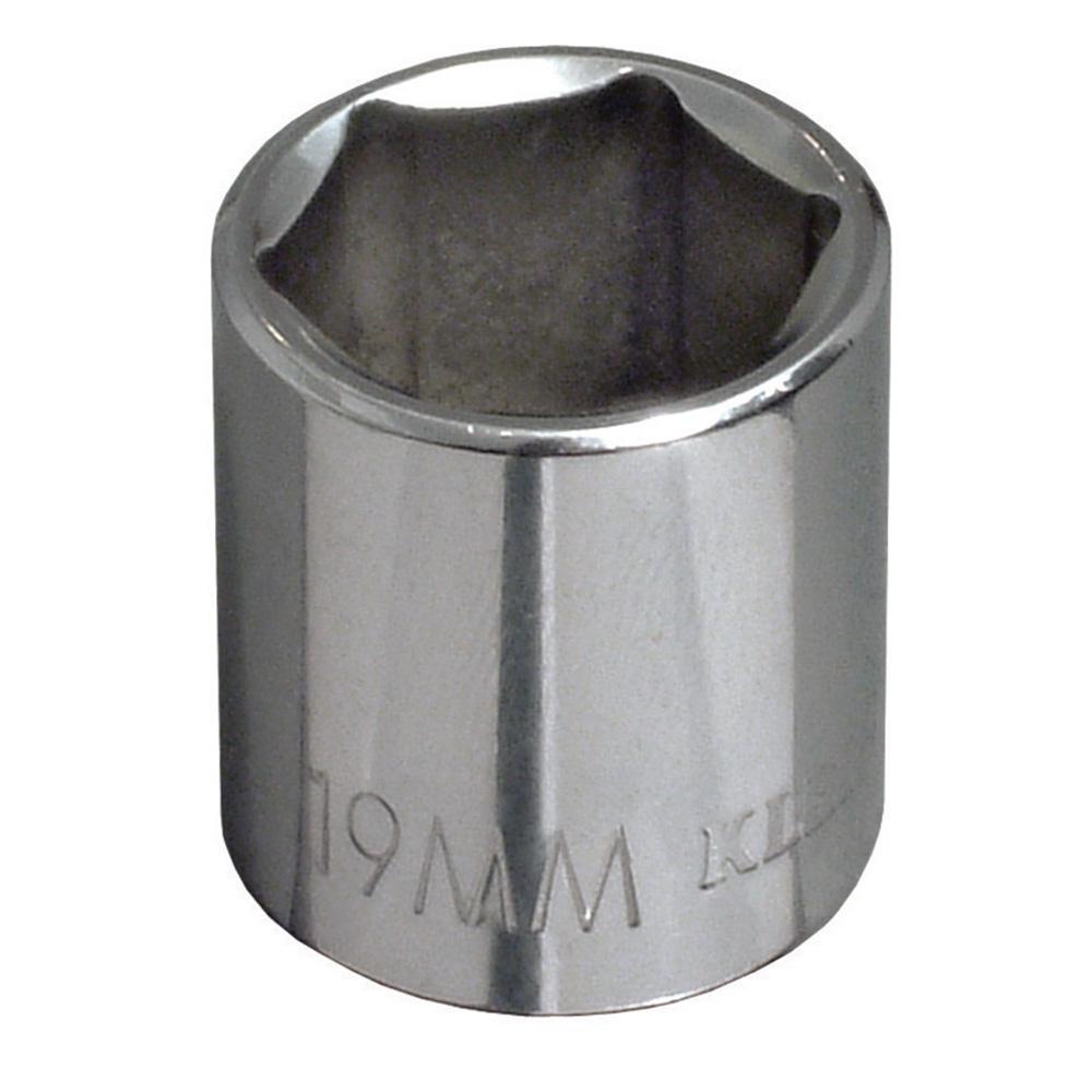 3/8 in. Drive 19 mm Standard 6-Point Metric Socket