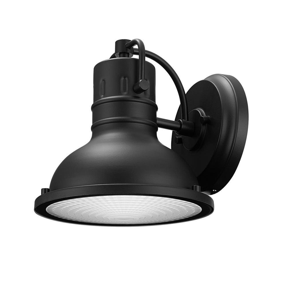 Globe Electric Harbor 1-Light Black Outdoor Wall Lantern Sconce