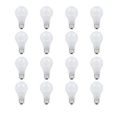60-Watt Equivalent A19 Dimmable Eco-Incandescent Light Bulb Soft White (16-Pack)