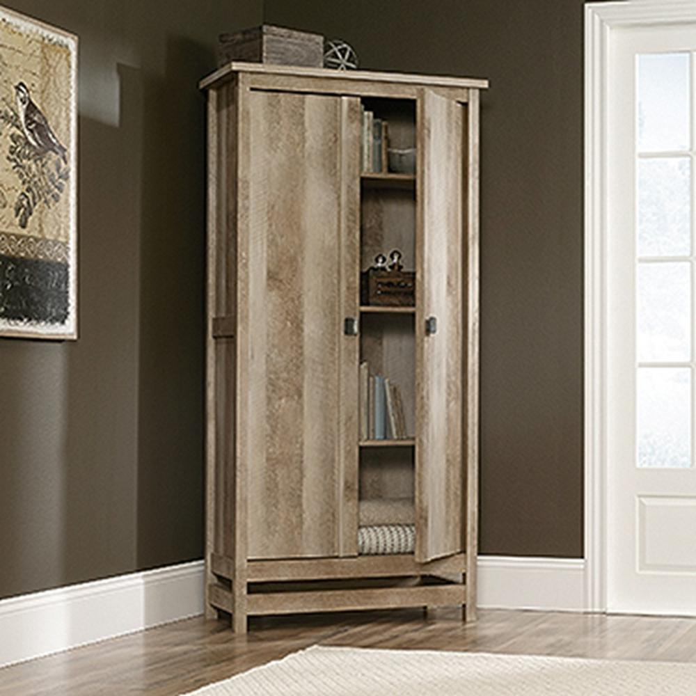 SAUDER Cannery Bridge Lintel Oak Storage Cabinet-416082 - The Home ...