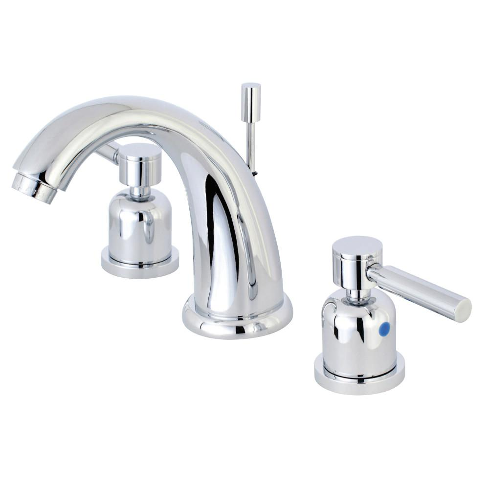Kingston brass 8 in widespread 2 handle mid arc bathroom - Home depot brass bathroom faucets ...