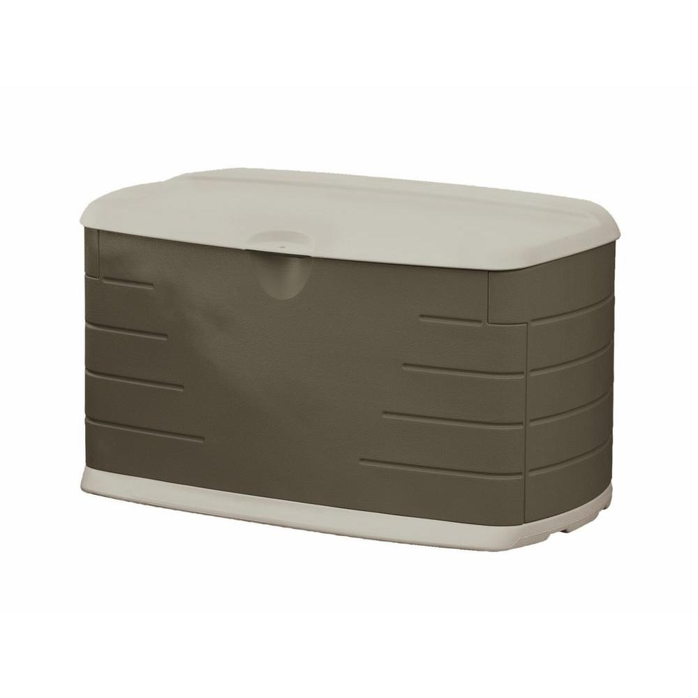Rubbermaid 73 gal. Medium Resin Deck Box with Seat