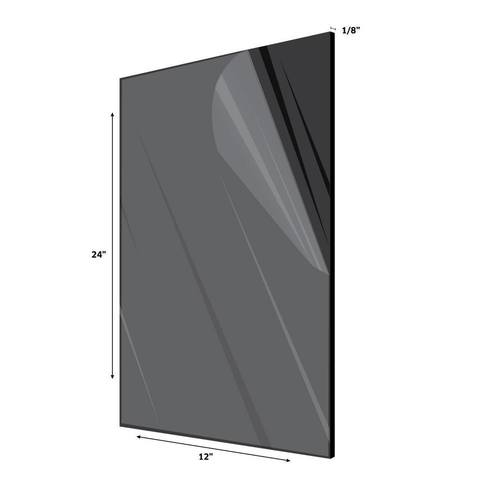 "1 Sheets 1//8/"" GRAY  Mirror Acrylic Plexiglass 12/"" x  24/"""