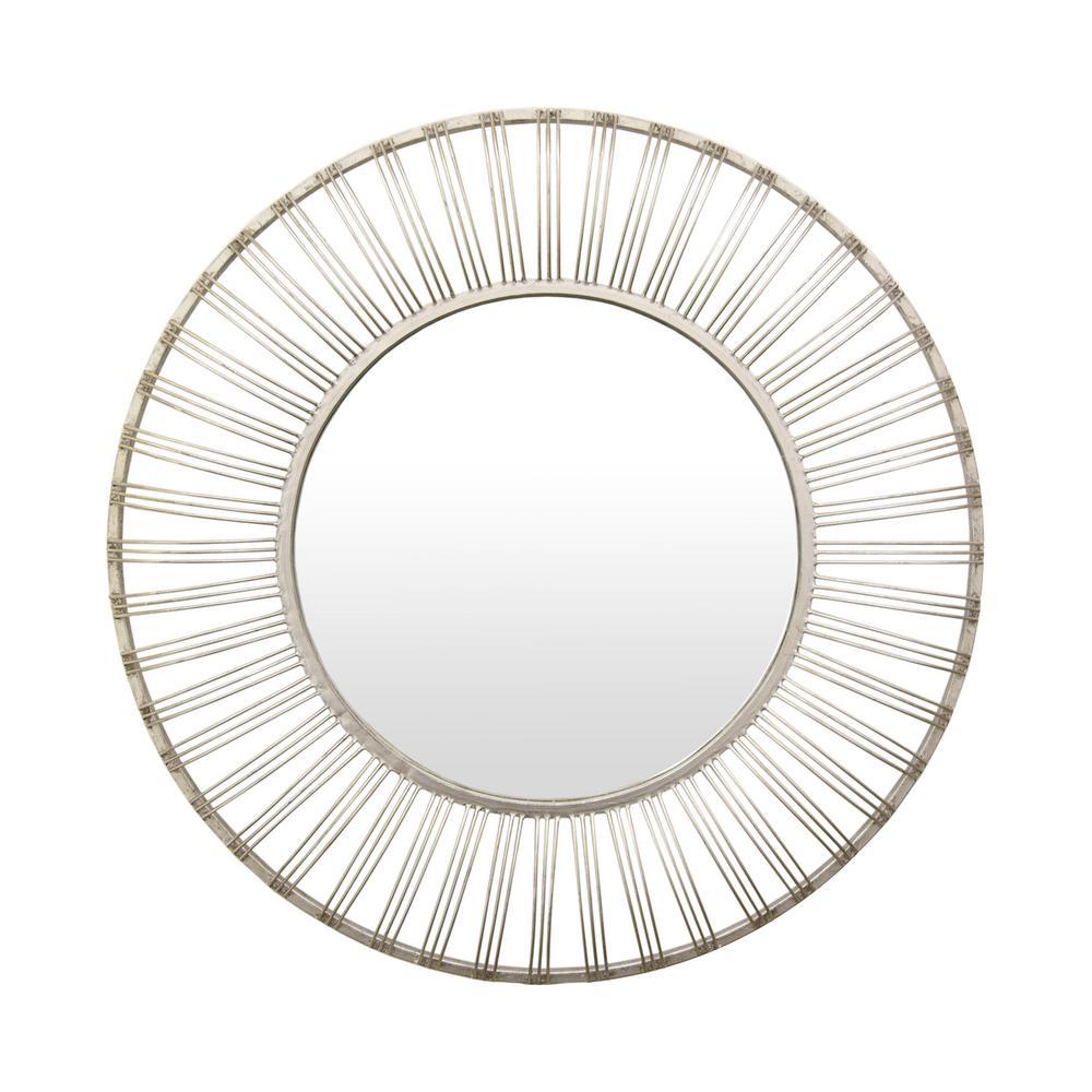 35.5 in. Metal Mirror in. Silver
