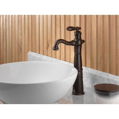 Victorian Single Hole Single-Handle Vessel Bathroom Faucet in Venetian Bronze