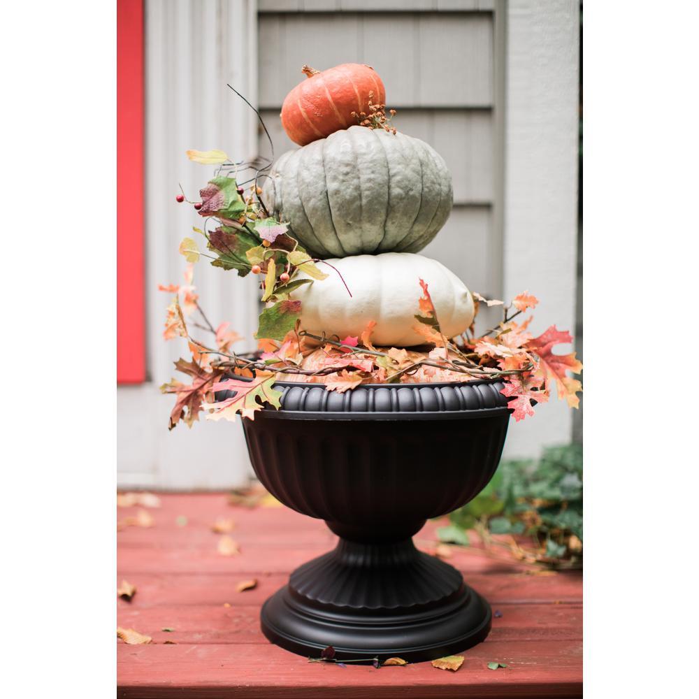 18 x 15 Black Grecian Plastic Urn Planter