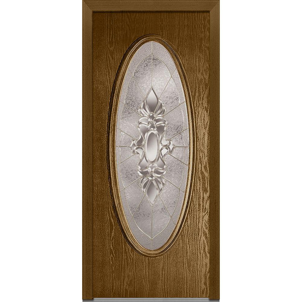 36 in. x 80 in. Heirloom Master Left-Hand Large Oval Classic