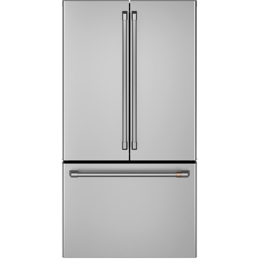 Smart French Door Refrigerator In Stainless Steel, Counter