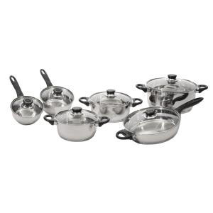BergHOFF Ostend 12-Piece Silver Cookware Set with Lids by BergHOFF