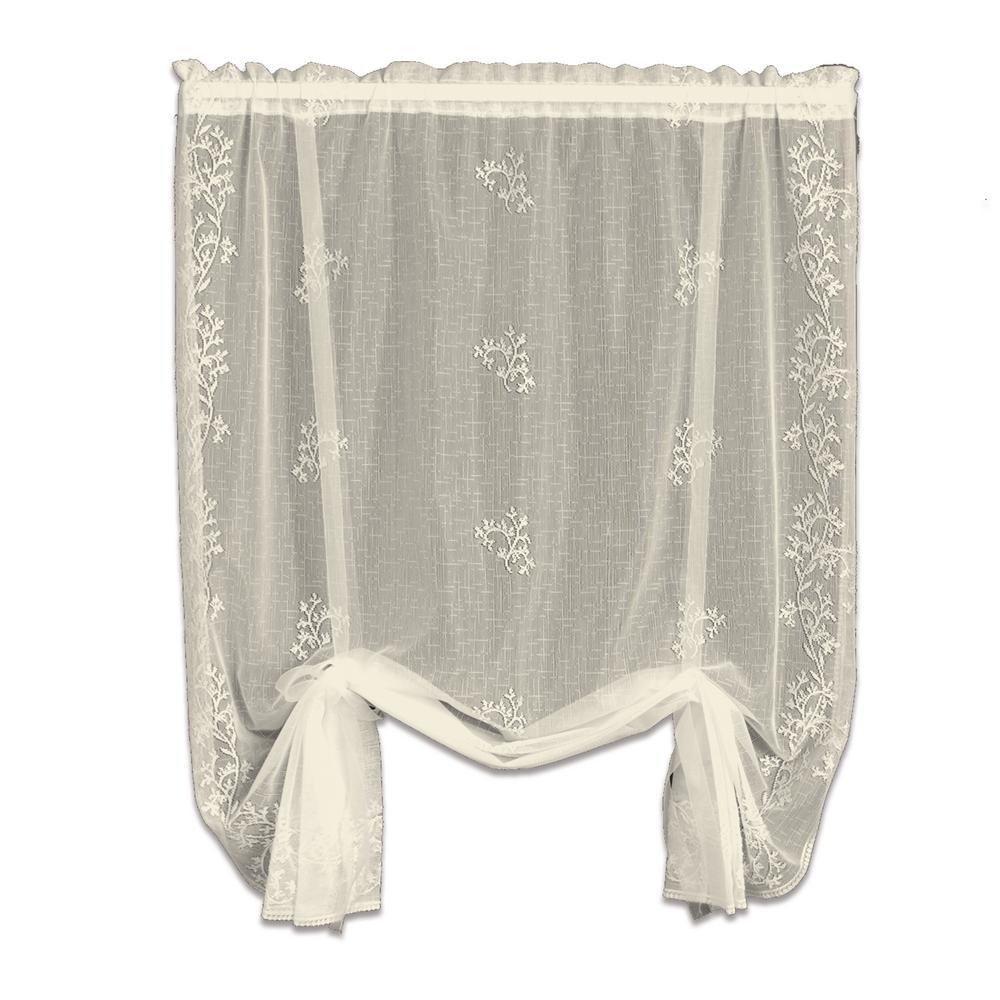 Sheer Divine Ecru Polyester Sheer Curtain - 42 in. W x 63 in. L