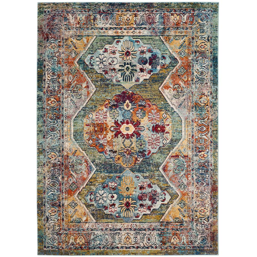 Safavieh Savannah Green Gray 4 Ft X 6 Ft Area Rug Svh649m 4 The Home Depot