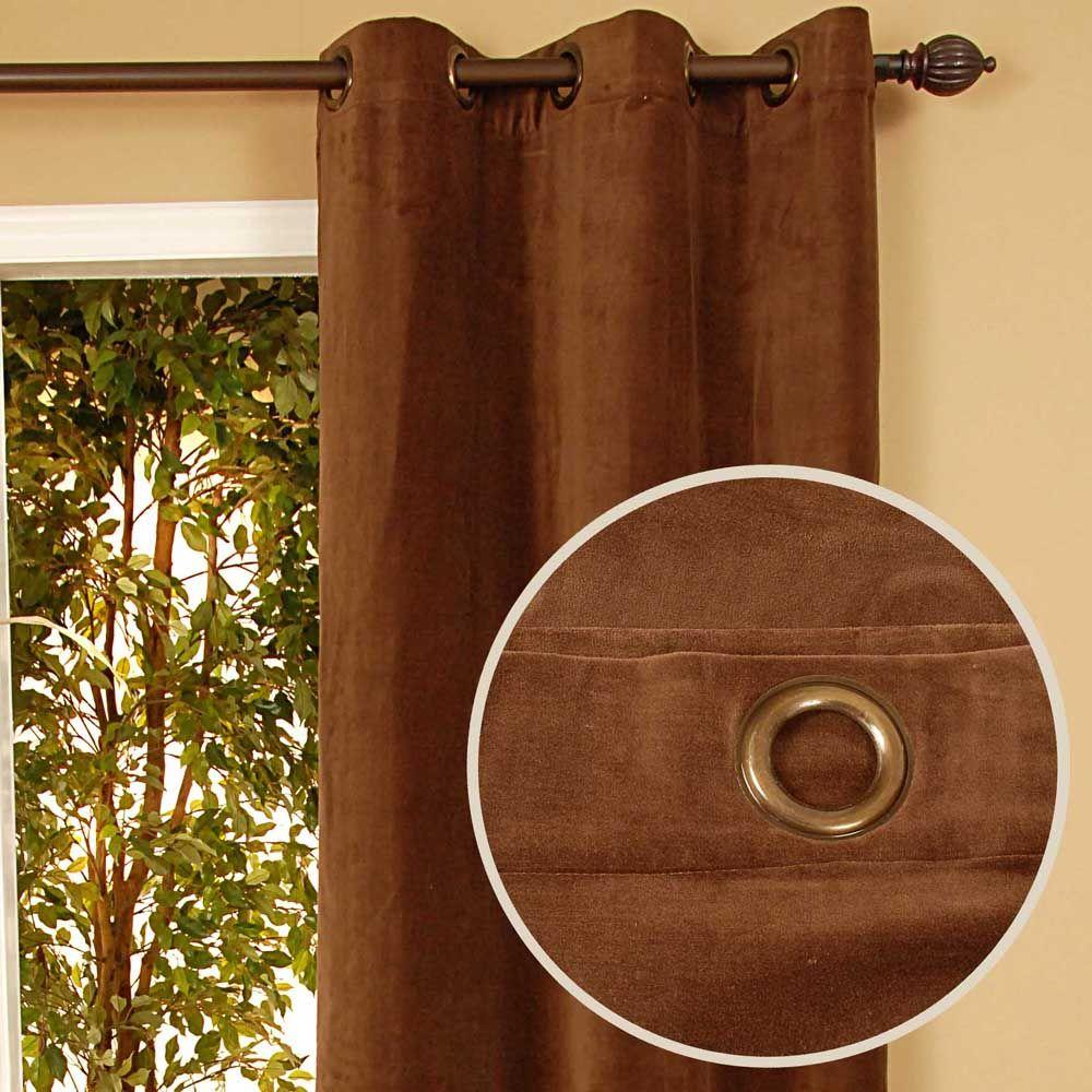 Home Decorators Collection Sheer Kavita Chocolate Grommet Curtain