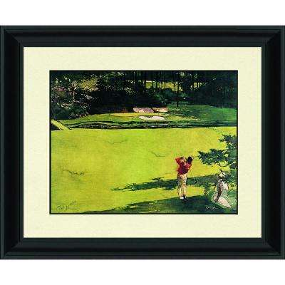 33.5.in x 28.87.in''Augusta 12th Hole'' By PTM Images Framed Printed Wall Art