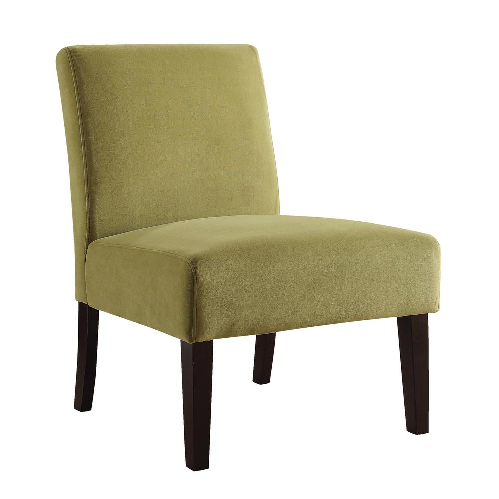 OSP Home Furnishings Laguna Basil Chair The Laguna Series Chair adds sophistication to any room. The chairs are covered in high performance easy care fabrics with foam cushions. Solid wood legs for durability complete the design. Color: BASIL.