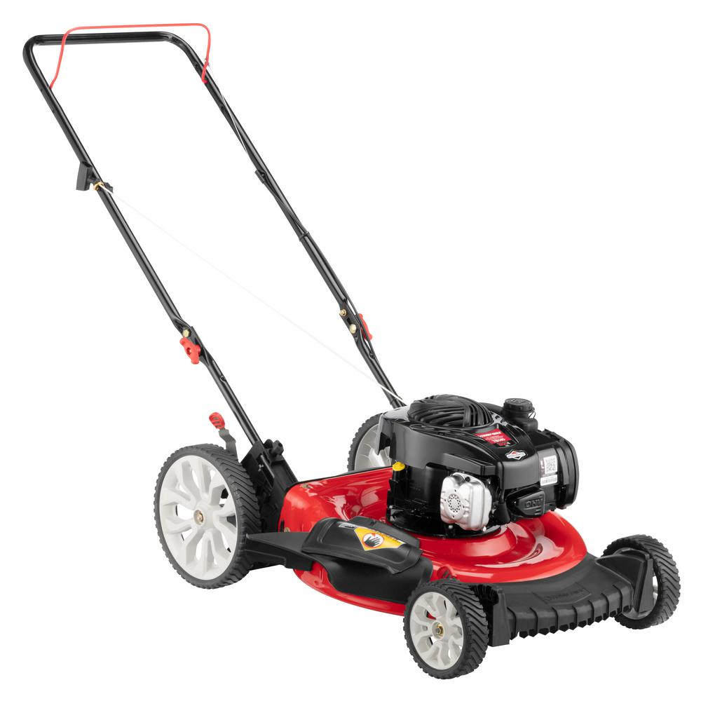 Troy-Bilt 21 in. 140 cc 500e Series Briggs & Stratton Gas Walk Behind Push Mower with 2-in-1 Cutting TriAction Cutting System