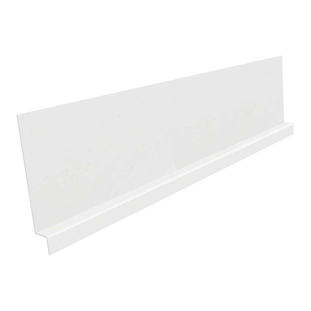 Construction Metals 3/8 in. x 8 ft. Galvanized Steel Z Bar Flashing in White