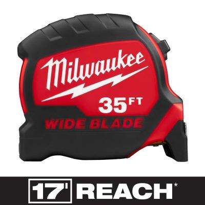 35 ft. x 1.3 in. Wide Blade Tape Measure with 17 ft. Reach