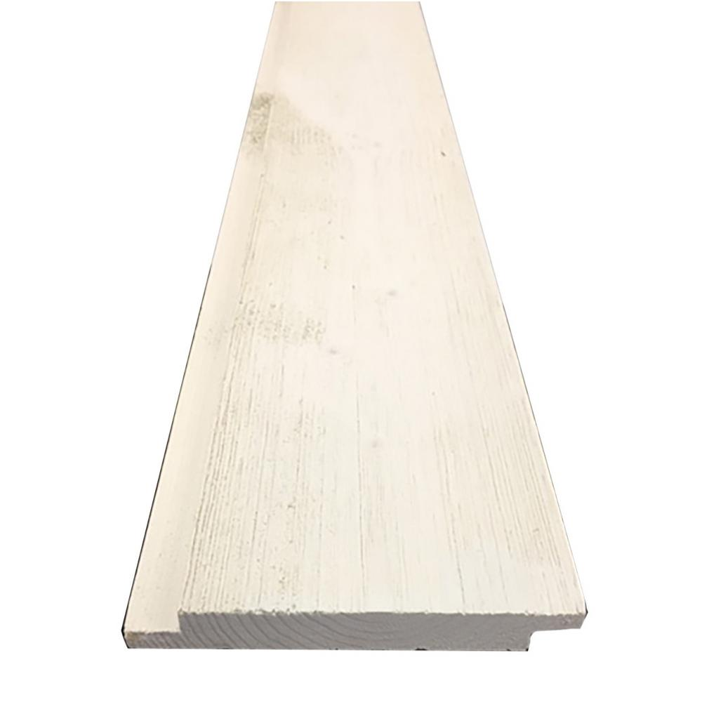 1 in. x 6 in. x 8 ft. Barn Wood Pre-Finished White Spruce Shiplap Board