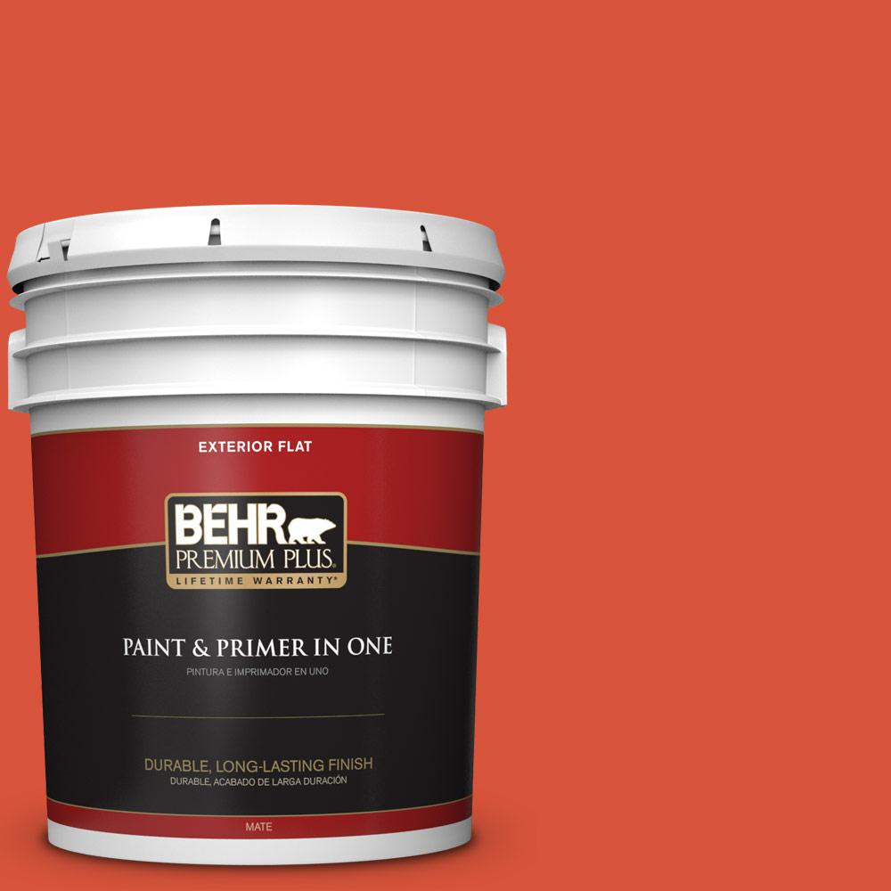 5 gal. #HDC-MD-10G Mod Orange Flat Exterior Paint