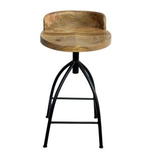 Magnificent 26 In Brown And Black Industrial Style Adjustable Swivel Counter Height Stool With Backrest Gmtry Best Dining Table And Chair Ideas Images Gmtryco