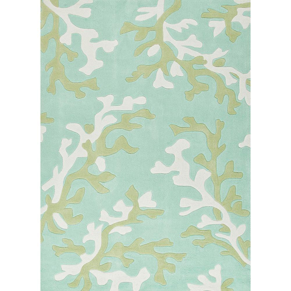 Home Decorators Collection Hand Tufted Birds Egg Green 9 Ft X 12 Coastal