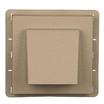 8 in. x 7.875 in. Water Management 4 in. Hooded Vent in Tan
