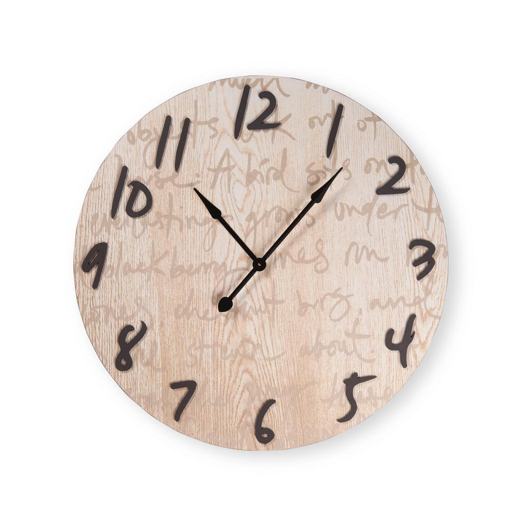 IMAX 23 in. Oversized Yellow and Cream Wall Clock-2511 ...