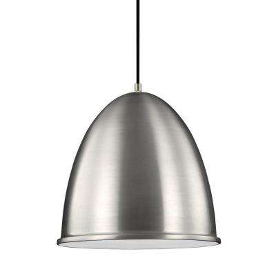 Hudson Street 1-Light Satin Aluminum Indoor Pendant