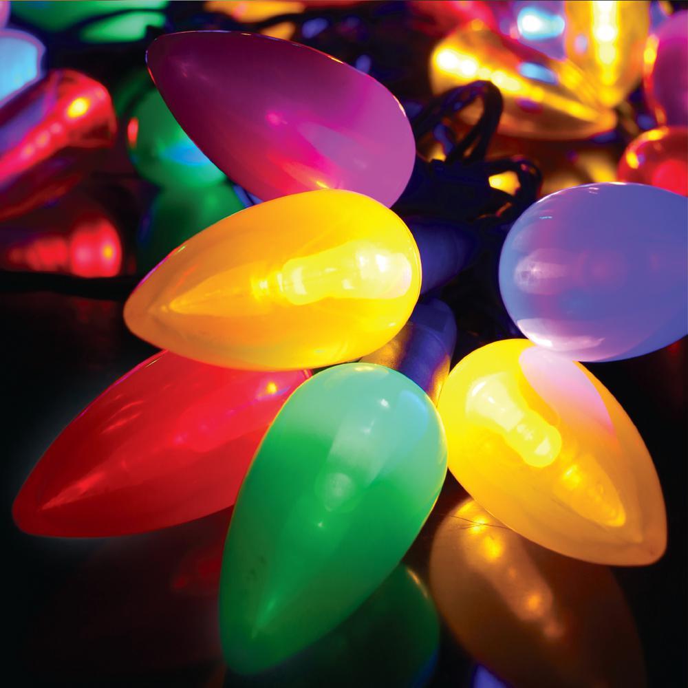 50-Light Multicolor C9 Ceramic LED String Light Set