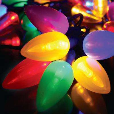 50-Light Multi-Color C9 Ceramic LED Ultra Bright String Light Set