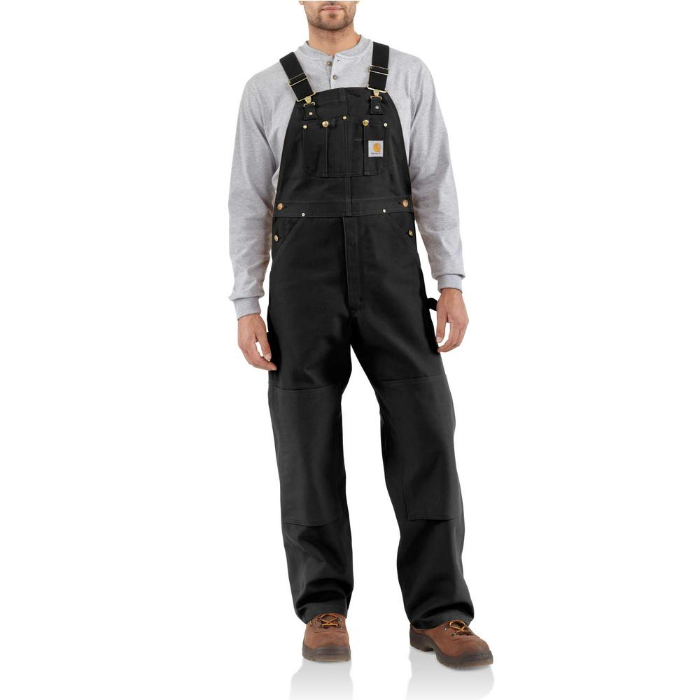 Men'S 28 in x 34 in. Black Cotton Duck Bib Overalls