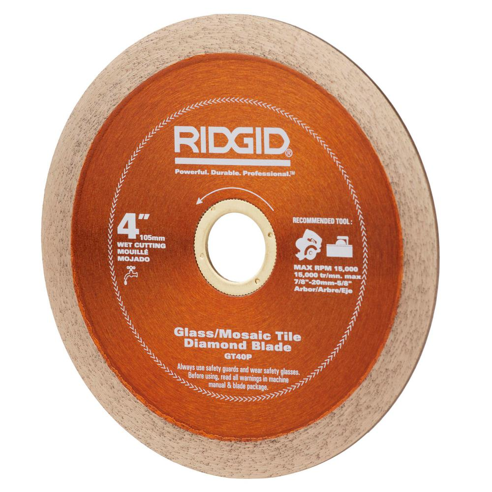 Ridgid 4 In Gl Tile Blade Hd Gt40p The Home Depot
