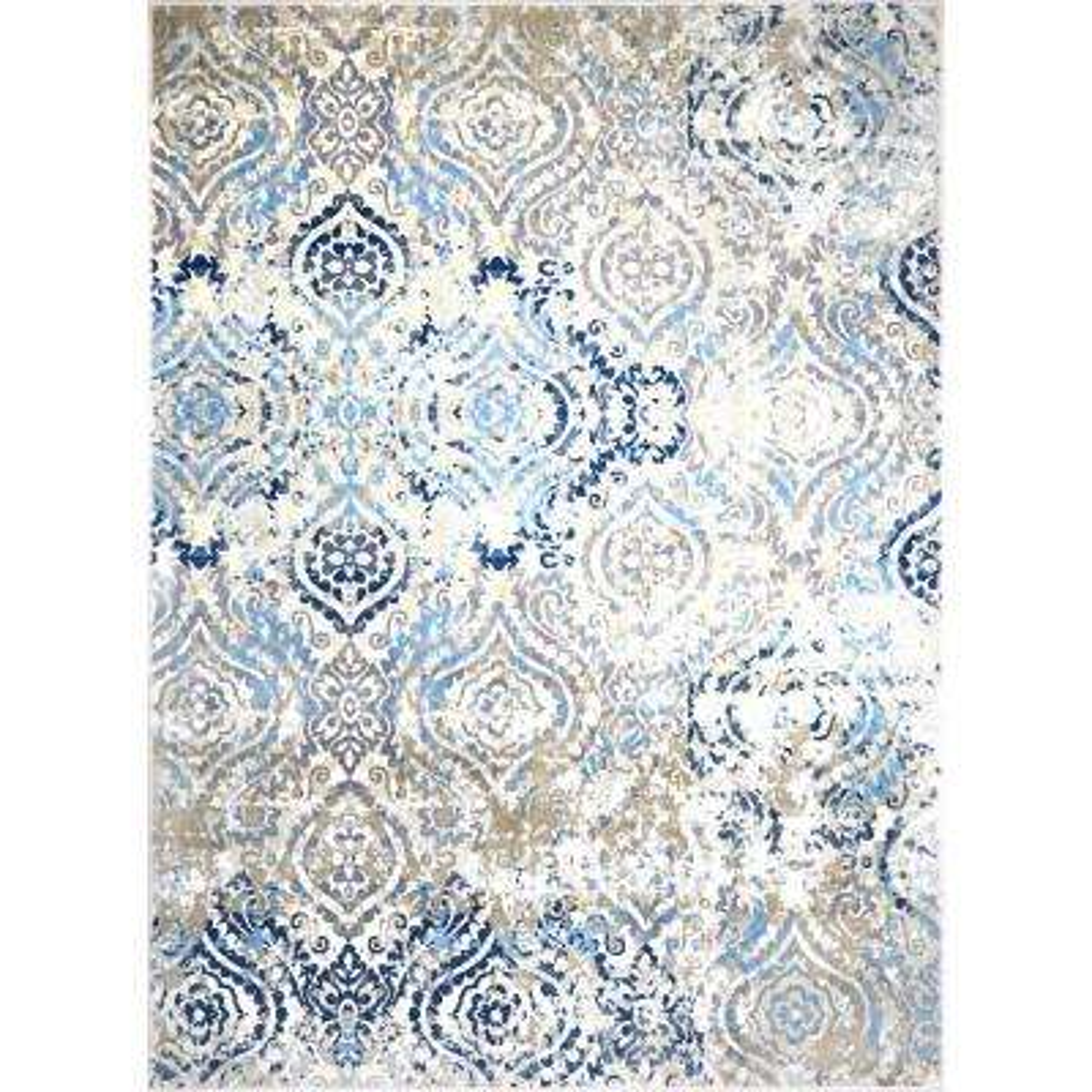 Melrose Audrey Ivory/Blue 9 ft. 2 in. x 12 ft. 5 in. Indoor Area Rug