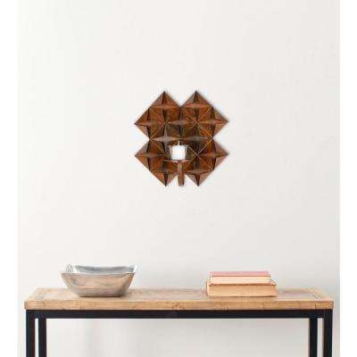 11 in. Pillar Wall Decor in Antique Copper