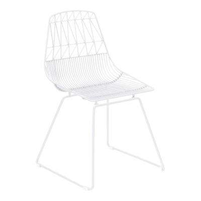Brody White Metal Outdoor Dining Chair (2-Pack)