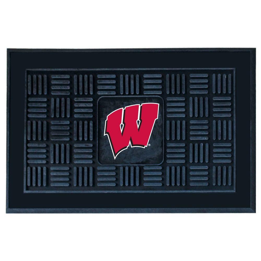 FANMATS University of Wisconsin 18 in. x 30 in. Door Mat
