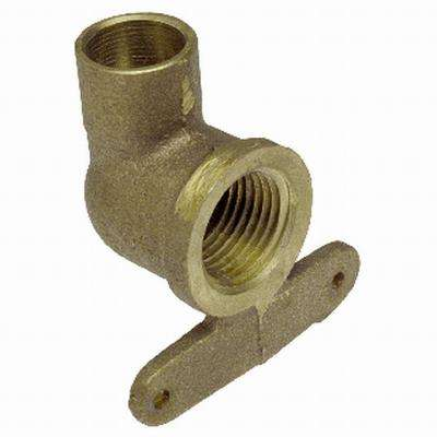 1/2 in. Forged Bronze 90-Degree Cup x FIP High-Set Drop Elbow Fitting