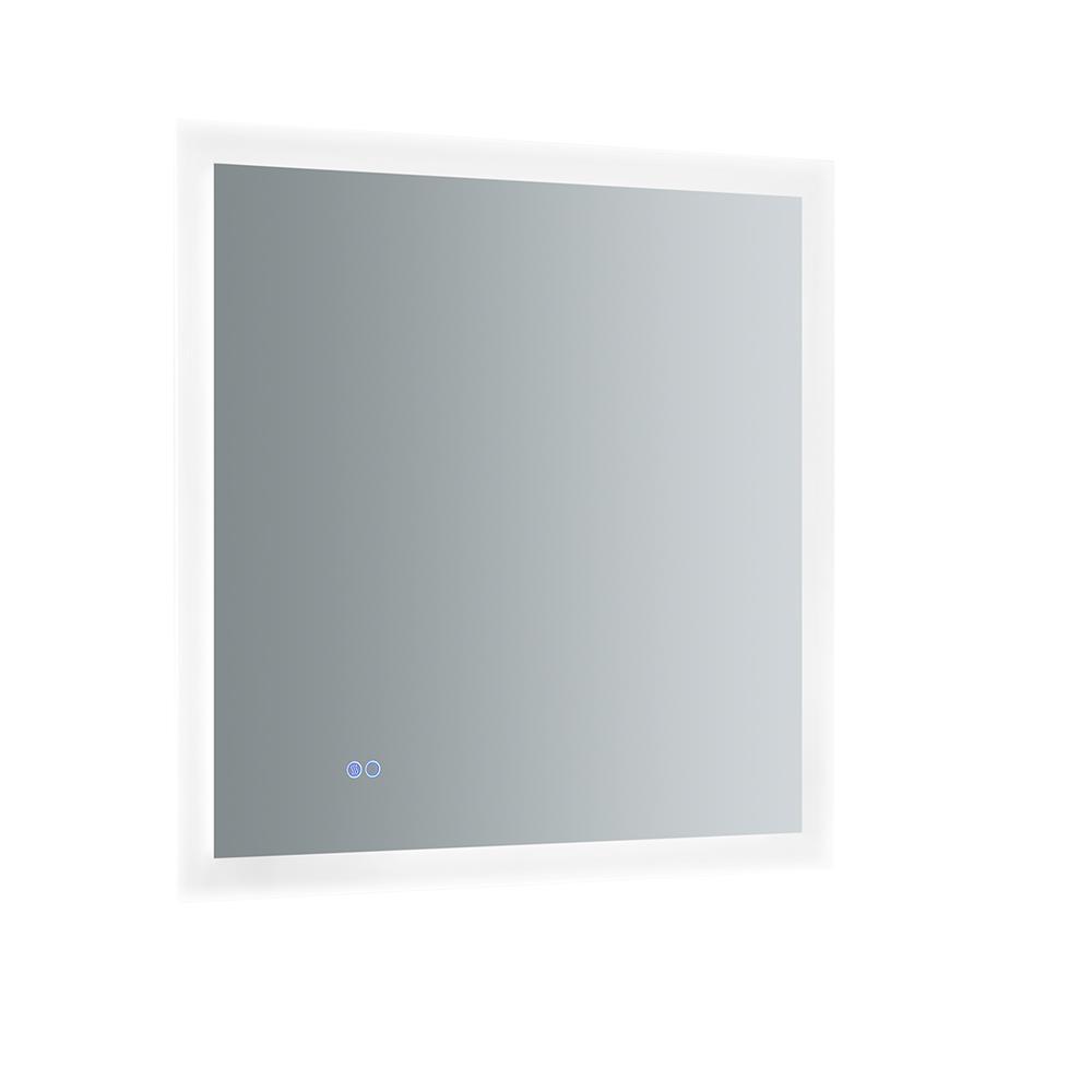 Angelo 30 in. W x 30 in. H Frameless Square LED Light Bathroom Vanity Mirror