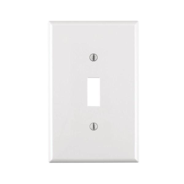 1-Gang Midway Toggle Nylon Wall Plate, White