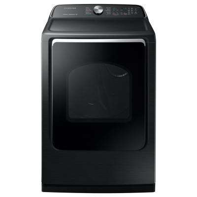 7.4 cu. ft. 120-Volt Black Stainless Steel Gas Vented Dryer with Steam Sanitize and Sensor Dry, ENERGY STAR