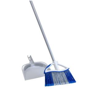 Quickie 11.5 inch Dual Action Angle Broom and Dust Pan Set by Quickie