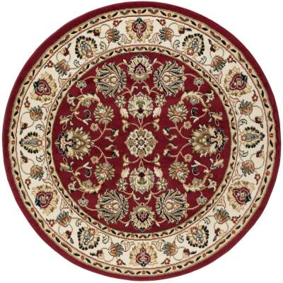 Hampton Traditional Red 8 ft. Round Area Rug